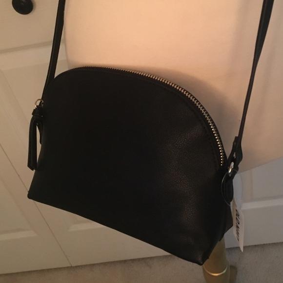 fa684da652 NWT Pebbled Faux Leather Half Moon Crossbody Bag